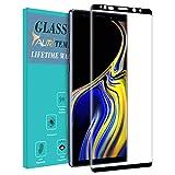 TAURI Protection écran Samsung Galaxy Note 9 [Couverture Complète] [9H Dureté] Film Protection Verre Trempé - Noir
