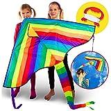 VELUXIO KITES   Grande Aquilone Arcobaleno per Bambini e Adulti immagine