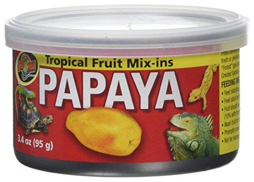Zoo Med Tropical Fruit Mix-ins Papaya 3 x 95g, 3er Pack Ergänzungsfuttermittel für Reptilien