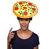 Chapeau en forme de pizza / maxicain cheveaux frisses les enterrements de vie de garçon carnaval deguisement