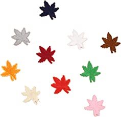 MagiDeal 10 Pieces 4.8cm / 1.89'' Maple Leaf DIY Embroidered Patches Sew/Iron On Applique For Jeans Pants Shoes Clothes