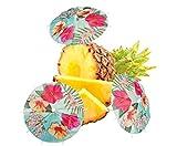 Neu: 6 Cocktail-Schirme * Paradies * zur Deko für Eine Sommer-Mottoparty | Gartenparty Hibiskus Strand Hawaii Paradise Motto Party Schirmchen Dekoration