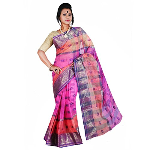 Hawai Rainbow Spark Bengal Tant Cotton Saree  available at amazon for Rs.999