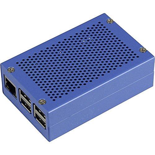 Joy-it Raspberry Pi® Gehäuse Blau RPI-Case-ALU-BLUE Raspberry Pi® 2 B, Raspberry Pi® 3 B, Raspberry Pi