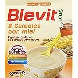 Blevit Plus 8 Cereales con Miel - Paquete de 2 x 300 gr - Total: 600 gr