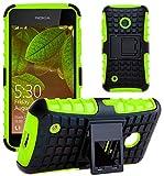 G-Shield Hülle für Nokia Lumia 530 Stoßfest Schutzhülle mit Ständer - Grün