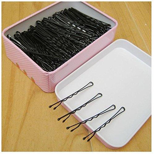 Haarnadeln schwarze Haar Clips Eine Packung Haarspange Haarschmuck - 150 Stücke (Einfach Pin Up Haar)