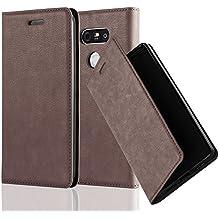 Cadorabo - Etui Housse pour LG G5 avec Fermeture Magnétique Invisible (stand horizontale et fentes pour cartes) - Coque Case Cover Bumper Portefeuille en MARRON-CAFÉ