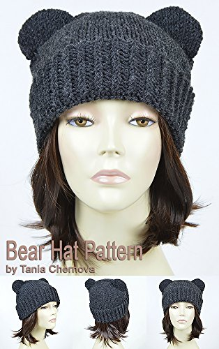 Bear Hat Pattern Knit Animal Hat Bonnet Femme Mickey Mouse Hat Bear Beanie Mickey Ears Womens Hat Disney Ears Beanie Knitting Pattern Beanie With Ears ... Ears Disney Hat Winter Hat (English Edition) (Häkeln-mickey Mouse)