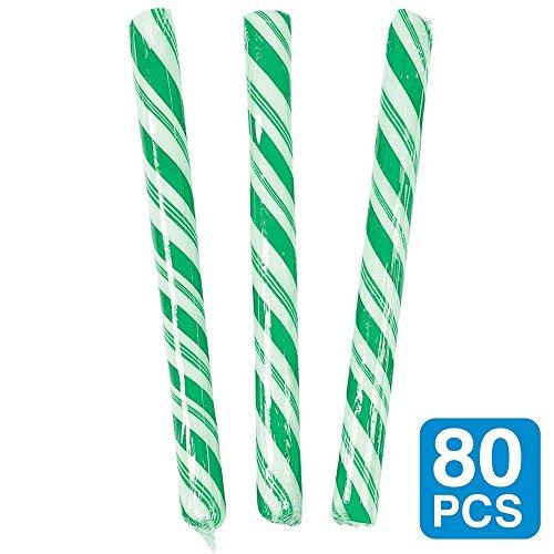 4; Candy Sticks (80Stück) (Candy Apple Kostüme)