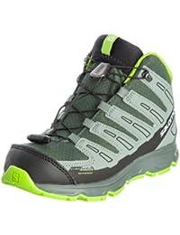 Salomon SYNAPSE MID CSWP J Verde Gris Niños Zapatos para Correr Trail
