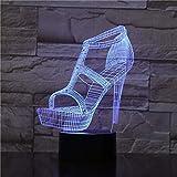 3D Night Light High-Heeled Shoes 3D Decor Nightlight Table Desk 7 Colors...