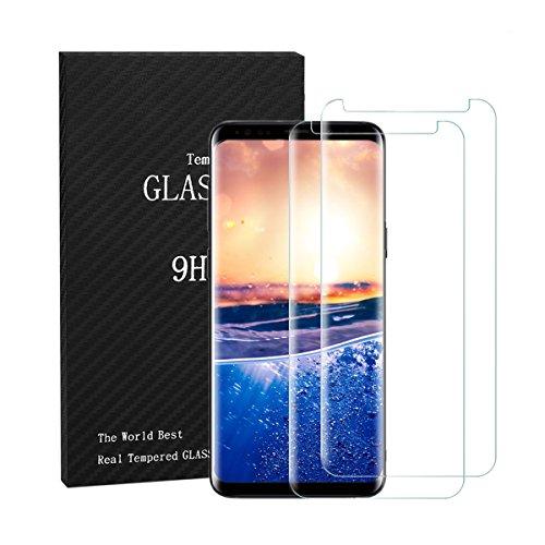 Zater Samsung Galaxy S8 Panzerglas Schutzfolie[2 Stück], Galaxy S8 Schutzfolie 3D Panzerglasfolie 9H Härte Hartglas Gehärtetem Glas Displayschutzfolie Für Galaxy S8 Plus (Transparent, S8)
