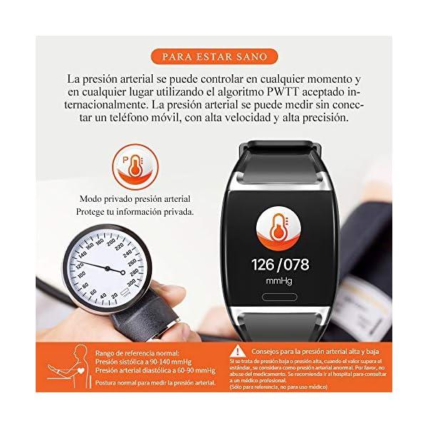 HalfSun Impermeable IP67 Smartwatch, HD Color Screen,Pulsera Inteligente con Pulsómetro, Monitor de Presión Arterial,Monitor de Calorías, Sueño, Podómetro,Pulsera Actividad para Android y iOS 4