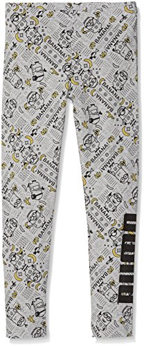 PUMA Kinder Minions Leggings G Hose, Light Gray Heather, 164 (Cw Stretch-shorts)