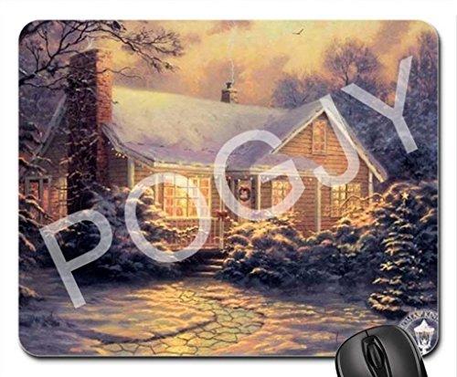POGJY Gaming Mauspad 7 x 8 Inches, Mousepad, Verbessert Präzision und Geschwindigkeit, Gummiunterseite für Stabilen Halt auf Glatten Oberflächen, Rutschfest, Strapazierfähig Schwarz - Weihnachtshäuser 3 image 257