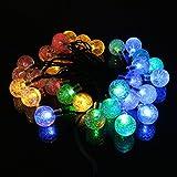 saldi. Luci stringa Leedy Inventive 20LED Outdoor Bubble Ball Solar Fairy Lights, home Garden Decor batteria luci di Natale matrimonio party festival Stage atmosfera lampada, 2.1m Multicolore