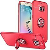 Slynmax Coque Samsung Galaxy S7 Edge Rouge Bague Étui Housse de Protection Case...