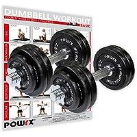 POWRX Mancuernas hierro fundido 30 kg set (2 x 15 kg)