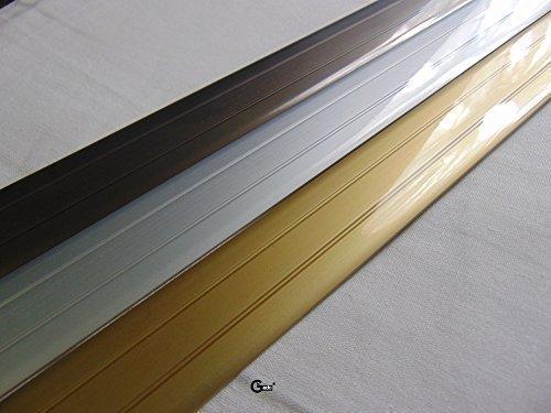 Gedotec® Übergangsprofil Übergangsschiene Bodenprofil Aluminium flach selbstklebend | Breite 37 mm | 3 Farben | 100 cm | Markenqualität für Ihren Wohnbereich (Aluminium Bronze eloxiert)