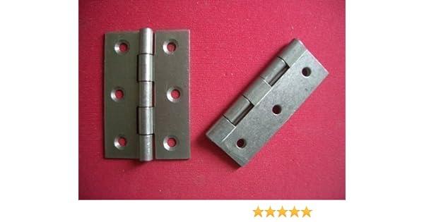 20 x ZINC PLATED STEEL BUTT HINGES DOOR CABINET HINGE 10 PAIRS 2.5 INCH 63mm