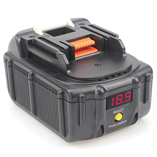 Quper - Pack de 2, Batería de iones de litio de repuesto con pantalla LED de voltaje e interfaz de carga USB, 18 V 6.0 Ah, para Makita BL1850B BL1850 BL1840 BL1830 BL1820 LXT-400 194204-5., 18.0V