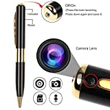 #9: Fleejost Hd Quality Pen Camera Video/ Audio Hidden Recording, Hd Sound Clearity Pen Camera With Memory Card Inserting Facility