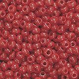 indio cuentas, Rojo oscuro, 2,5mm [juguete]