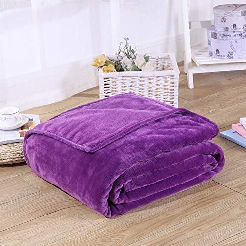 DANANGUA Hot Home Textil Flanell Decke Rosa Plaid Super Warme Weiche Decken Werfen Auf Sofa/Bett/Flugzeug Travel Patchwork Solide Tagesdecke (Color : Blue, Size : 180cmx200cm) - Stricken-krankenhaus-bett