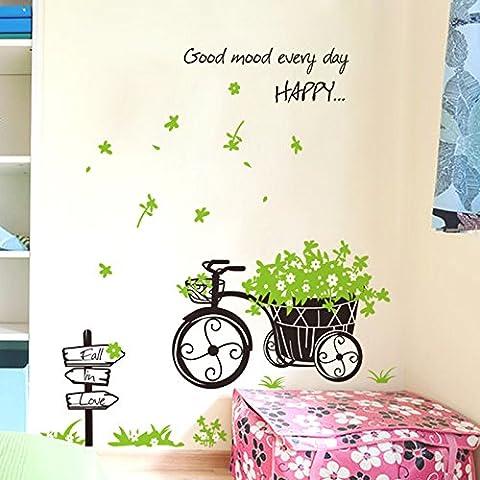 Portico d'ingresso di sfondo decorativo muro adesivo e romantico e fresco fiore muro decorativo adesivi murali , fresh floats