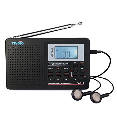 VITE VT-111 Radio Portátil DSP FM Estéreo / MW / SW / LW Radio Receptor Mundial Banda Completa Reloj y Alarma