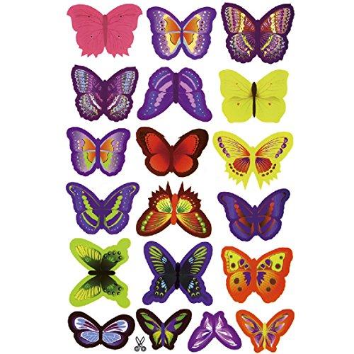 12 St/ück 3D Schmetterling Aufkleber Wandsticker,Wandtattoo Wanddeko f/ür Kinderzimmer,M/ädchenzimmer,K/ühlschrank,Garten,Party- Gelb