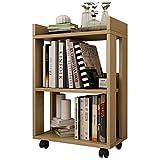 Anna Schelf anzeigen TH Bücherregal Klein aus Holz mit Flaschenzug Kind Klein Bücherregal Boden Stehend Abnehmbare Einfache Lagerregal