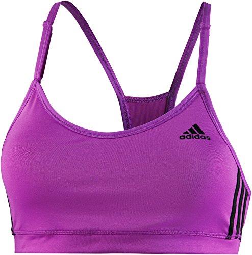 Adidas Strappy 3-Stripes Soutien-gorge de sport Shock Purple/Black
