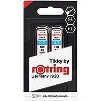 Rotring (1904837) Recambios de minas HB Hi-Polymer para portaminas finos, de 0,70mm, 2 x 12 minas
