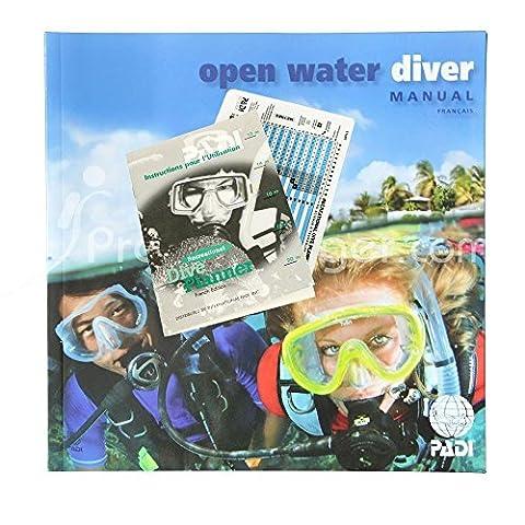 Manuel PADI Open Water Diver avec table de plongée classique