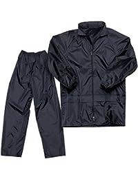 Motoway waterproof rain suit with hood & carry bag