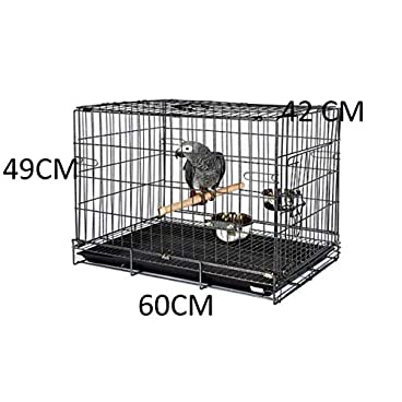 WUNDAPETS ANTIQUE BLACK PARROT TRAVEL VET TRANSPORTER CAGE AFRICAN GREY AMAZON