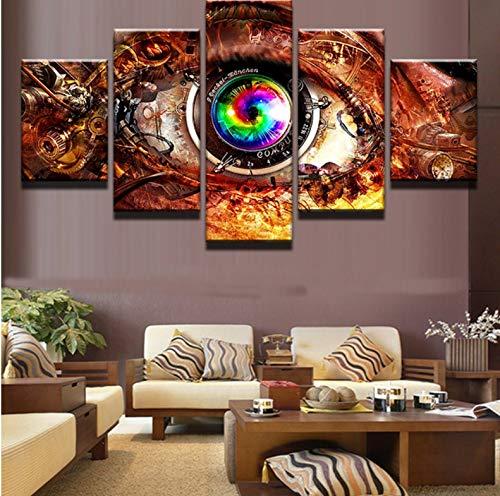 Spiel Steam Punk Eye Wandkunst Bild Home Decoration Wohnzimmer Druck Wandbild Druck Auf Leinwand-10X15/20/25Cm ()
