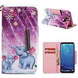 BONROY Flip Handytasche für Samsung Galaxy S8 Plus (6,2 Zoll),für Galaxy S8 Plus Ultra Dünn Handy Flip Leder Tasche Bunt Handyhülle Stoßfest Klapphülle Embossed-(gemaltes Holsterfeuerwerksikone)