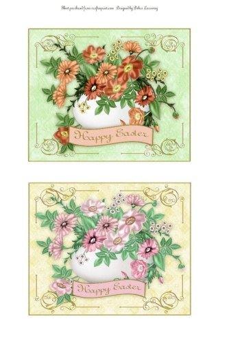 Floreale Uovo Topper in Peach e LT Rosa by Debra laraway