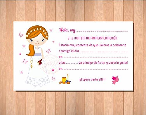 Invitaciones de Comunión. Recordatorios para Primera Comunión niña. Elegantes, Límpias ...