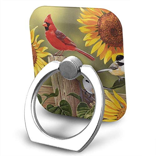 nd Songbirds Cell Phone Ring Holder 360 Degree Rotation and 180 ¡ãFlip Finger Ring Stand Holder Kickstand for iPhone,Samsung Galaxy, Smartphones and Tablet ()