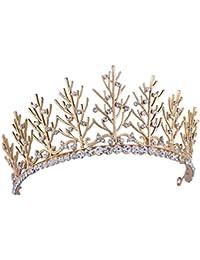 Santfe Hoja de Árbol de imitación estilo Tiara Corona Boda Pelo jewelry-silver chapado