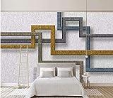 HONGYUANZHANG Mode Vintage Geometrische Linien Tapete Des Foto-3D Künstlerische Landschafts-Fernsehhintergrund-Tapete,128Inch (H) X 160Inch (W)