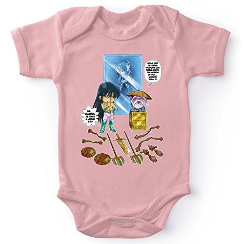 Parodie auf Dragon Shiryu und Libra Dohko von Saint Seiya Baby Strampler (Mädchen) (733)
