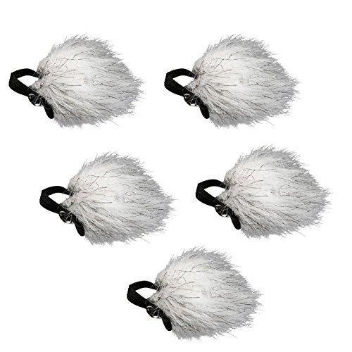 Movo WS10n Pantalla Contra el Viento de Piel Universal para Todos los Micrófonos de Solapa Incluyendo Movo, Shure, Rode, Sony, Audio-Technica & Más (PAQUETE DE 5)
