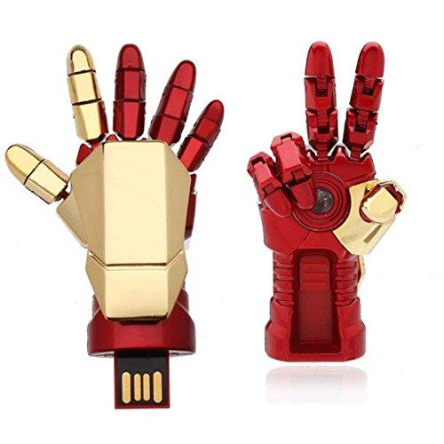 Moppi 16g mano di ironman usb flash drive u disco di metallo