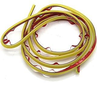 ASTrade 1m DIY Auto Innen & Außen Dekoration Strip Line Auto Wunderbar, Mini farbigen 1PC gelb