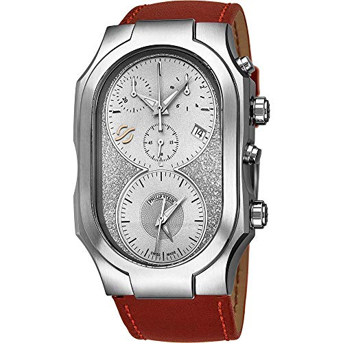 Philip Stein Men's Signature Red Leather Band Swiss Quartz Watch 300SLGCRSTBR